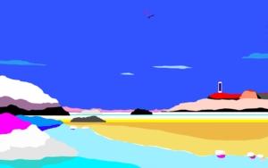 Playa del río|Obra gráficadeALEJOS| Compra arte en Flecha.es