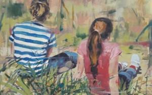 Niñas en Verano|PinturadeAmaya Fernández Fariza| Compra arte en Flecha.es