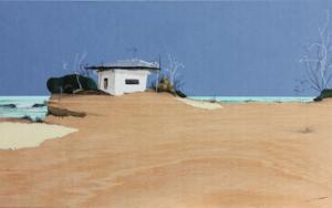 Playa azul|CollagedeEduardo Query| Compra arte en Flecha.es