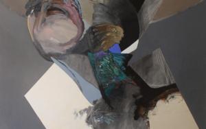 Hombre con cajón sobre la cabeza|PinturadeRaul Eberhard| Compra arte en Flecha.es