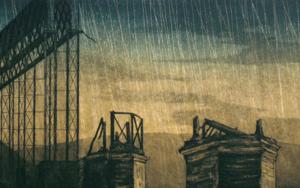 Puente en ruinas|DibujodeEnrique González| Compra arte en Flecha.es