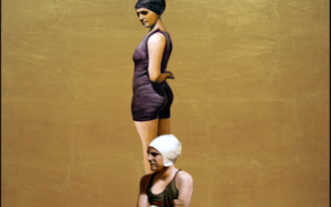 Dos bañistas|DibujodeEnrique González| Compra arte en Flecha.es