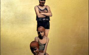 Tres bañistas|DibujodeEnrique González| Compra arte en Flecha.es