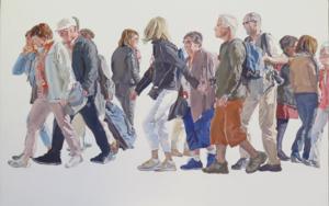 Cuerda de turistas|PinturadeJESÚS MANUEL MORENO| Compra arte en Flecha.es