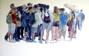 Turistas japoneses|PinturadeJESÚS MANUEL MORENO| Compra arte en Flecha.es