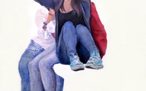 El selfie|PinturadeJESÚS MANUEL MORENO| Compra arte en Flecha.es