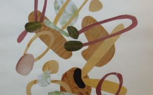 Mapografia caramelo|CollagedeFabiana Zapata| Compra arte en Flecha.es