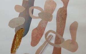 Mapografia beige|CollagedeFabiana Zapata| Compra arte en Flecha.es