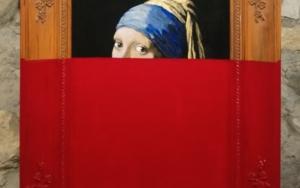 La chica roja|PinturadeJorge perez| Compra arte en Flecha.es