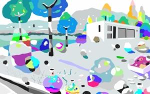 Arriba en la colina|Obra gráficadeALEJOS| Compra arte en Flecha.es
