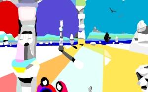 Saliendo de las ruinas|IlustracióndeALEJOS| Compra arte en Flecha.es