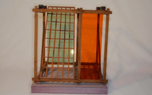 Serie las redes: Cubo 1|EsculturadeGilles Courbière| Compra arte en Flecha.es