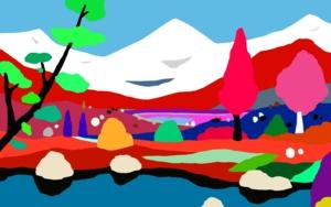 Montañas nevadas|DibujodeALEJOS| Compra arte en Flecha.es
