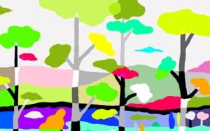 El pinar de los enanos|DibujodeALEJOS| Compra arte en Flecha.es