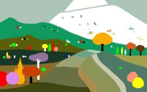 Paisaje con montaña|DibujodeALEJOS| Compra arte en Flecha.es