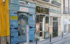 En la calle de los tres peces- Madrid|PinturadeTOMAS CASTAÑO| Compra arte en Flecha.es