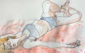 Modelo en Streaming|DibujodeJaelius Aguirre| Compra arte en Flecha.es