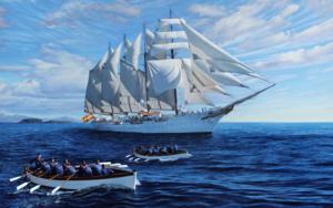 Juan Sebastián de Elcano: una escuela alrededor del mundo|PinturadeJavier Ramos Julián| Compra arte en Flecha.es