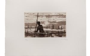 Pescador de Bagamoyo  N 5|Obra gráficadeCalo Carratalá| Compra arte en Flecha.es