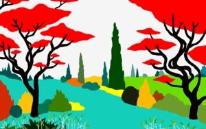 El estanque|DibujodeALEJOS| Compra arte en Flecha.es