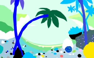 La pequeña cala|DibujodeALEJOS| Compra arte en Flecha.es