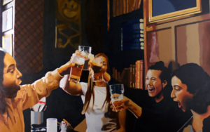 brindis|PinturadeJose Belloso| Compra arte en Flecha.es