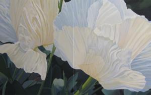 """Dos flores blancas""|PinturadeCarmen Varela| Compra arte en Flecha.es"