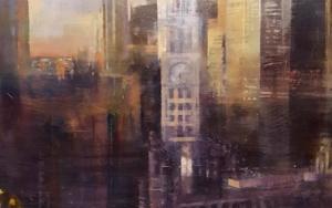 Chicago nocturno|PinturadeISABEL  AVILA| Compra arte en Flecha.es