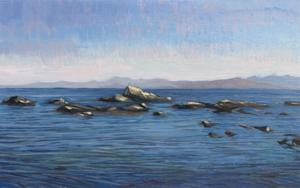 Cala del Sarchal Ceuta|PinturadeCarlos J. Márquez| Compra arte en Flecha.es
