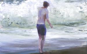 Embistiendo las olas|PinturadeCarmen Montero| Compra arte en Flecha.es