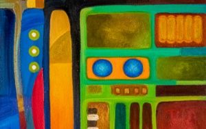 Variaciones geométricas I|PinturadeHelena Revuelta| Compra arte en Flecha.es