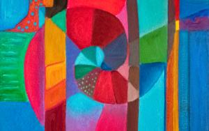 Variaciones geométricas II|PinturadeHelena Revuelta| Compra arte en Flecha.es