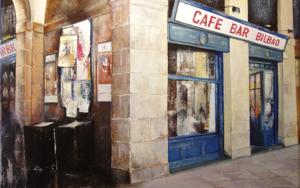 Bar Bilbao PinturadeTOMAS CASTAÑO  Compra arte en Flecha.es
