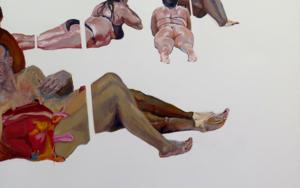 Bajo las sombrillas|PinturadeJESÚS MANUEL MORENO| Compra arte en Flecha.es