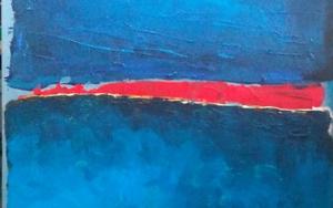 Tres azules|PinturadeBARBAC| Compra arte en Flecha.es