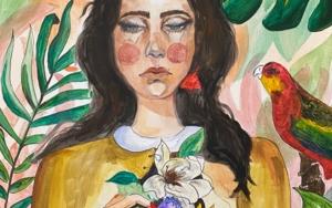 Paloma negra|PinturadeFEDERICA| Compra arte en Flecha.es