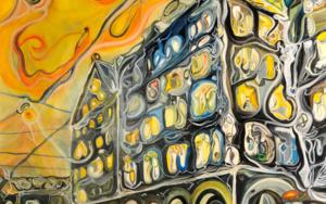 Ciudad en movimiento|PinturadeRICHARD MARTIN| Compra arte en Flecha.es