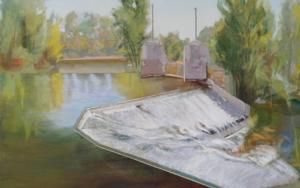 Be water. Ribera del Duero en San Miguel del Pino|PinturadeIgnacio Mateos| Compra arte en Flecha.es