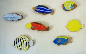 Peces|Escultura de pareddeMiguel Costales| Compra arte en Flecha.es