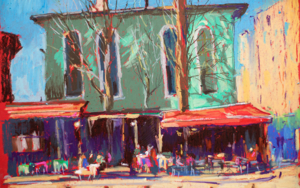 Istanbul. Cafeteria|DibujodeSasha Romm Art| Compra arte en Flecha.es