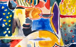 Chica en formas abstractas|PinturadeMaciej Cieśla| Compra arte en Flecha.es