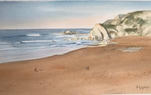 El peñón Sopelana|PinturadeChela Grijelmo| Compra arte en Flecha.es