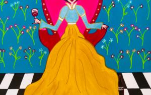 Reina Matilda de copas|PinturadeÁngela Fernández Häring| Compra arte en Flecha.es