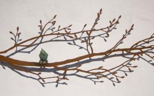 Rama con pájaro en el centro|EsculturadeCharlotte Adde| Compra arte en Flecha.es