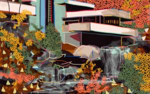 La casa  de la cascada de Wright|DigitaldeSantiago Esteban Glez| Compra arte en Flecha.es