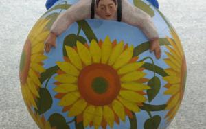 Tentempié floral EsculturadeCarmen Varela  Compra arte en Flecha.es