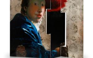 Biombo de Vermeer asimétrico|PinturadeEnrique González| Compra arte en Flecha.es