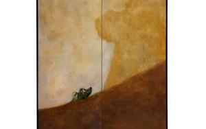 Dog looking up|PinturadeEnrique González| Compra arte en Flecha.es