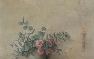 Eucalipto con flor|Pinturademarta gomez de la serna| Compra arte en Flecha.es
