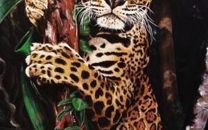 Leopardo en arbol PinturadeJorge perez  Compra arte en Flecha.es